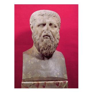 Bysten av Plato kopierar av ett 4th original för Vykort