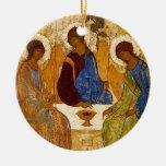 Byzantineänglar på ett bord julgranskula