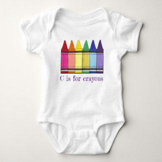 C är för färgläggning för Crayon för T Shirts