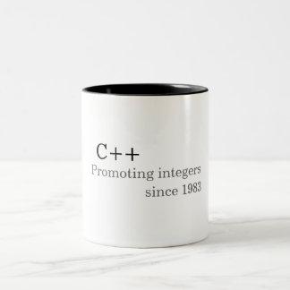 C++: Främja heltal efter 1983 (muggen) Två-Tonad Mugg