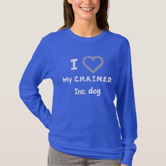 C.H.A.I.N.E.D. Inc. Hundkvinna långärmad Tee Shirt