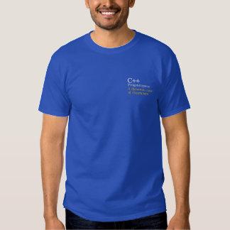 C++ Programmerare: En dynamic_cast av tecken Broderad T-shirt