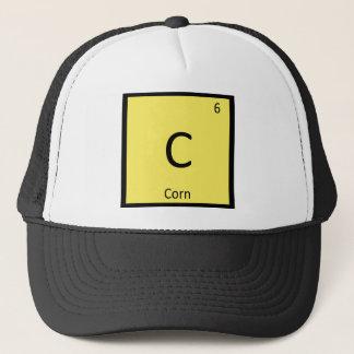 C - Symbol för bord för majgrönsakkemi periodiskt Truckerkeps