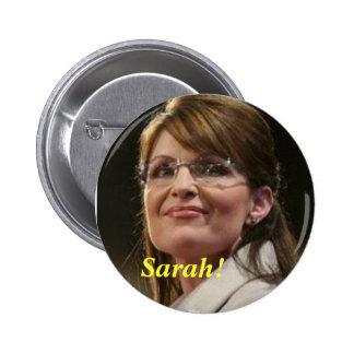 CA Sarah! Politiskt knäppas Standard Knapp Rund 5.7 Cm
