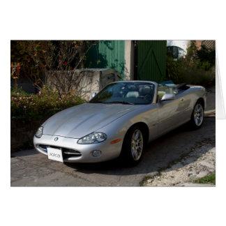 Cabriolet för jaguar XK8 Hälsningskort