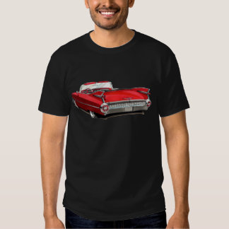 Cadillac röd bil 1959 t-shirts