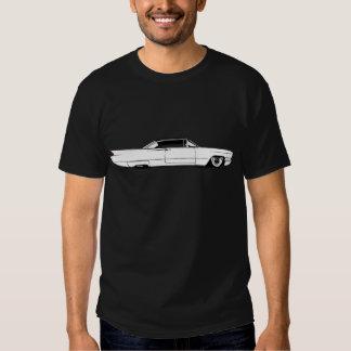 Cadillac serieeldorado 1960 på svart tee shirts