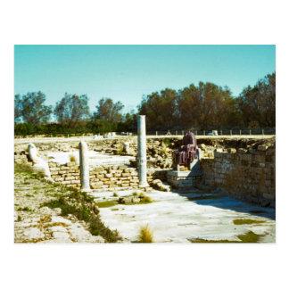 Caesarea - remains av fora vykort
