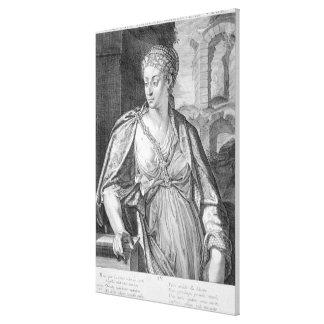 Caesonia fru av Caligula (gravyr) Canvastryck