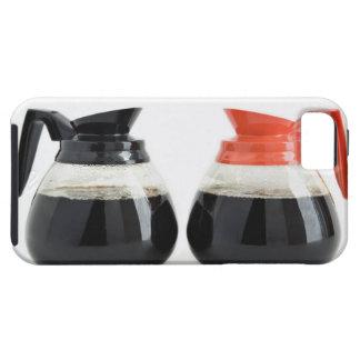 Caf. och Decaf. Kaffekrukar på White. iPhone 5 Skydd