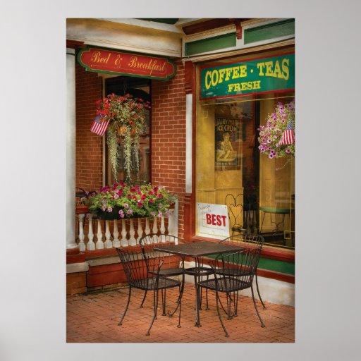 Cafe - den bäst glassen i Lancaster Posters