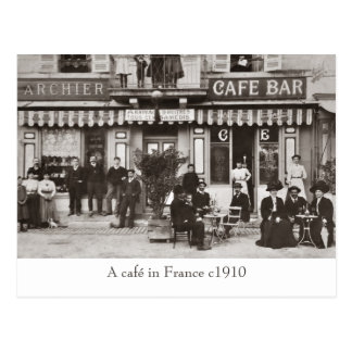 Café i frankrikesepiavykort vykort
