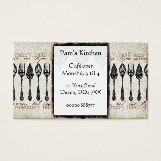 Cafe-/middagvintagevisitkort Visitkort