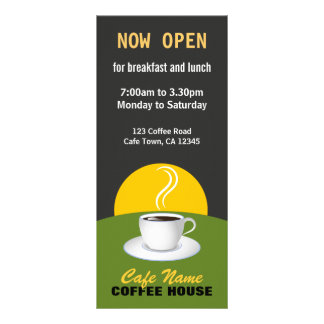 Cafekaffemenyn shoppar svart- och gröntkuggekort anpassade ställkort