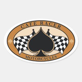 CafeRacer/motorcykel Ovalt Klistermärke