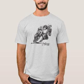 CafeRacerelaket lutar vintagestilT-tröja T Shirt
