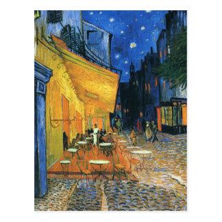 Cafeterrass på den nattVan Gogh vykortet Vykort