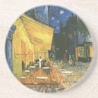 Cafeterrass - Vincent Van Gogh Underlägg Sandsten