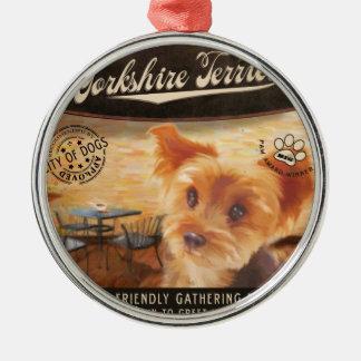 CafeYorkshire Terrier Julgransprydnad Metall