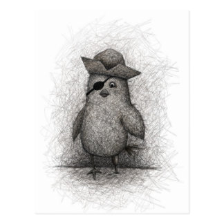 Cagey gammal fågel vykort