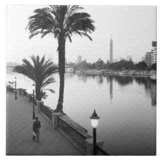 Cairo egypten, Along Nilet River Kakelplatta
