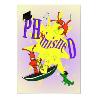 Cajun Themed Ph.d partyinbjudan 12,7 X 17,8 Cm Inbjudningskort