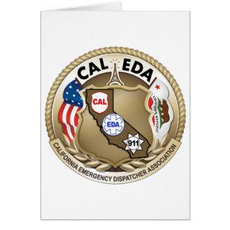 CAL--EDAlogotyp Notecard (sidoöppningen) Hälsningskort