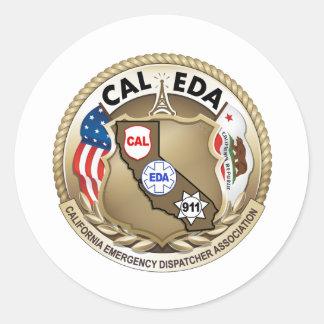 CAL--EDAlogotypklistermärke (den små logotypen) Runt Klistermärke