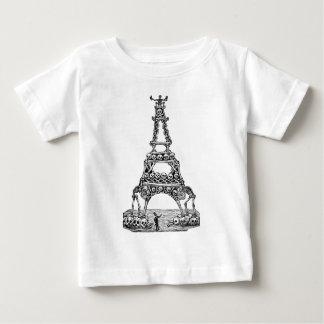 Calavera av det Eiffel torn C. sen 1800's Tee Shirts