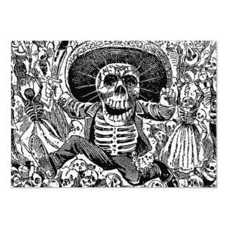 Calavera day of the dead 12,7 x 17,8 cm inbjudningskort