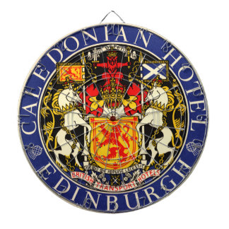 Caledonian hotell Edinburgh Skottland för vintage Darttavla