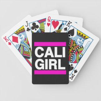 Cali flickarosor spelkort
