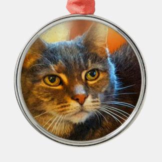 Calicotabby kattprydnad vid sången Zeock Julgransprydnad Metall