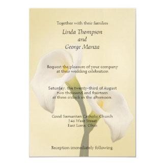 Calla Lilly på guld- bröllopinbjudan 12,7 X 17,8 Cm Inbjudningskort