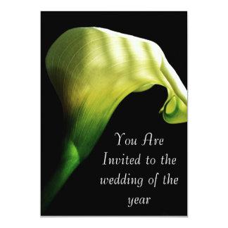 calla som gifta sig lilly inbjudan
