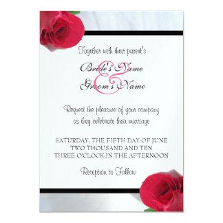 Callalilja/rosa bröllopinbjudan 12,7 x 17,8 cm inbjudningskort
