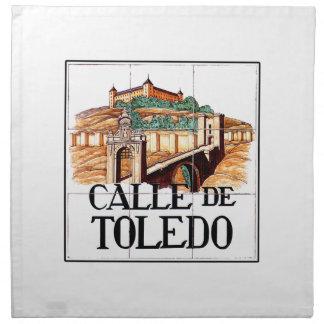 Calle de Toledo, den Madrid gatan undertecknar Tygservett
