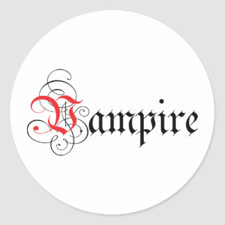 Calligraphic vampyr runt klistermärke