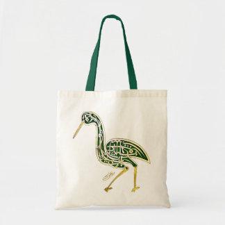 Calligraphyfågel (storken) budget tygkasse