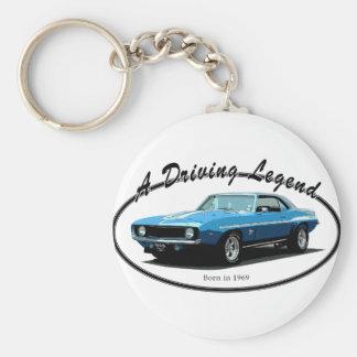 Camaro blått 1969 nyckelring