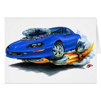 Camaro blåttbil 1993-97 hälsningskort