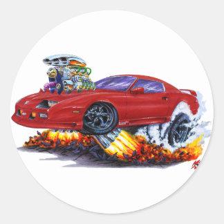 Camaro rödbrun bil 1982-92 runt klistermärke