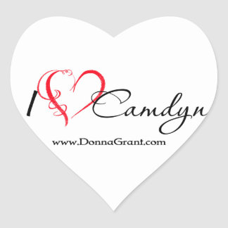 Camdyn Hjärtformat Klistermärke