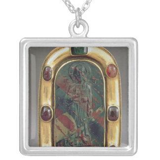 Cameo av den ge välsignelsen för Kristus Silverpläterat Halsband