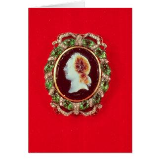 Cameo av Louis XV från ett ha på sig armband Hälsningskort
