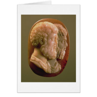Cameo som visar Marcus Aurelius (121-180) och Luci Hälsningskort