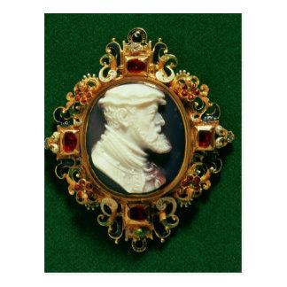 Cameo uthärda porträtt av Charles mig av Spanien Vykort