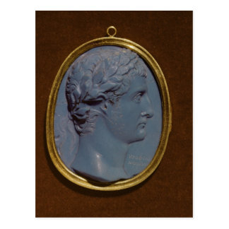 Cameo uthärda profilera av Tiberius Vykort