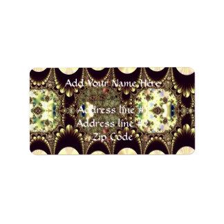 Cameos i guld- och elfenbenFractal Adressetikett