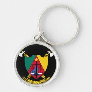cameroon emblem rund silverfärgad nyckelring